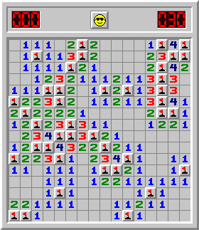 Minesweeper Intermediate - 30 seconds